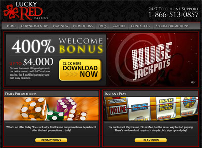 lucky red casino payout percentage