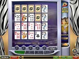 Deuces Wild 4-line Video Poker