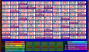 Microgaming Aces & Faces 100-Hands Video Poker