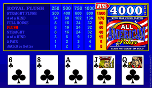 Microgaming All American Video Poker