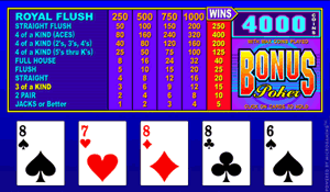 Microgaming Bonus Poker Video Poker