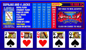Microgaming SupaJax Progressive Video Poker