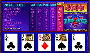 Microgaming Tens or Better Video Poker