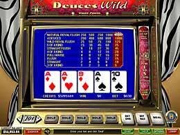 Deuces Wild 1-line Video Poker