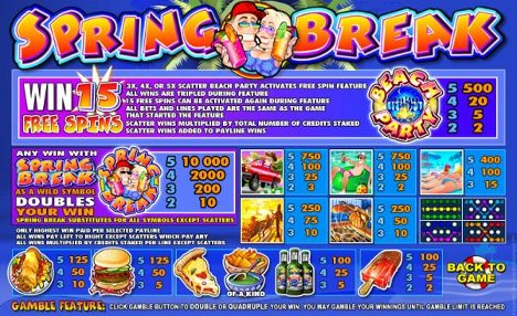 Spring Break Slot Machine