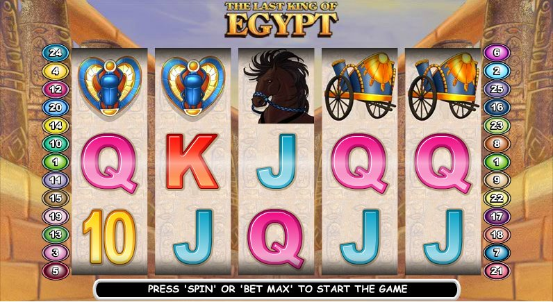 The Last King of Egypt™ Slot Machine Game to Play Free in PartyGamings Online Casinos